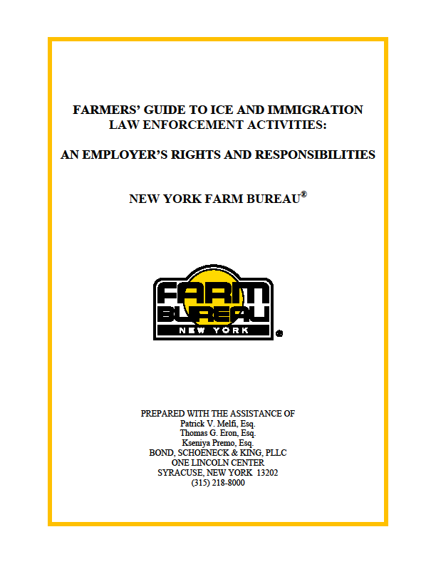 FARMER'S GUIDE TO ICE & IMMIGRATION LAW ENFORCEMENT ACTIVITI